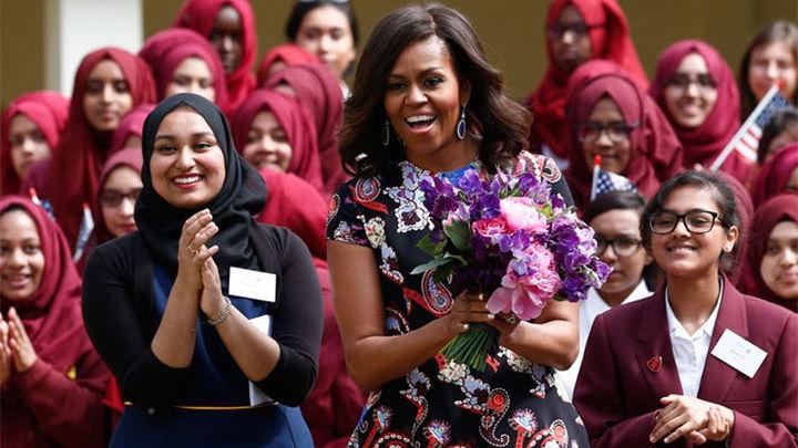 Michelle Obama llegará hoy a España acompañada de sus hijas y su madre