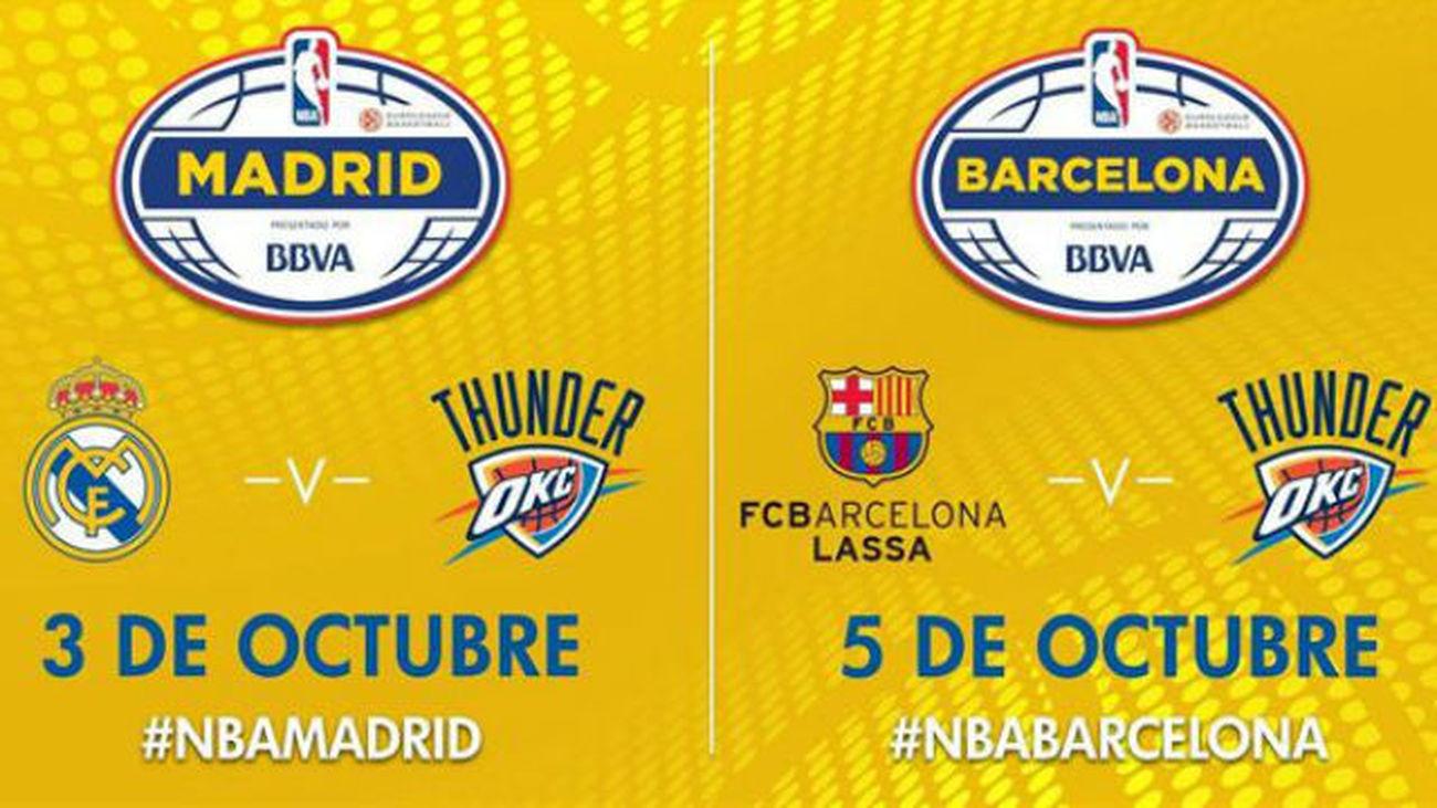 Los Thunder visitarán España para jugar contra Real Madrid y Barça