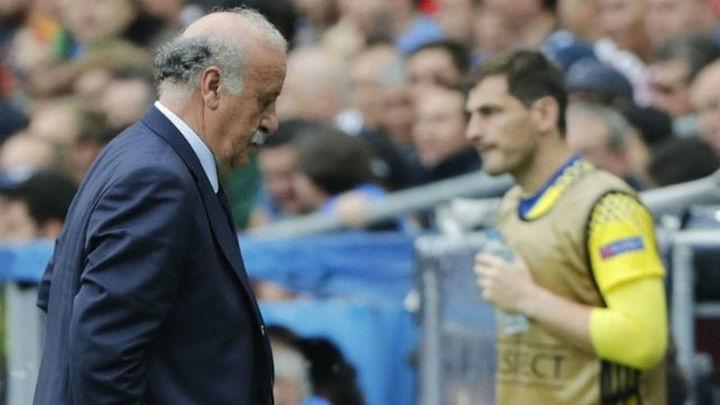 """Del Bosque: """"Casillas estuvo perfecto con sus compañeros, con el cuerpo técnico así, así"""""""