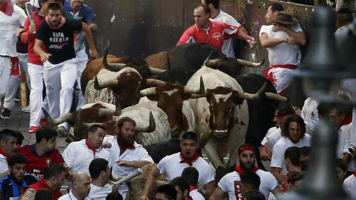 Cuatro heridos en el primer encierro de San Fermín, ninguno herido por asta