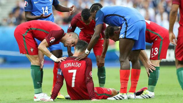 Lesión de Cristiano Ronaldo