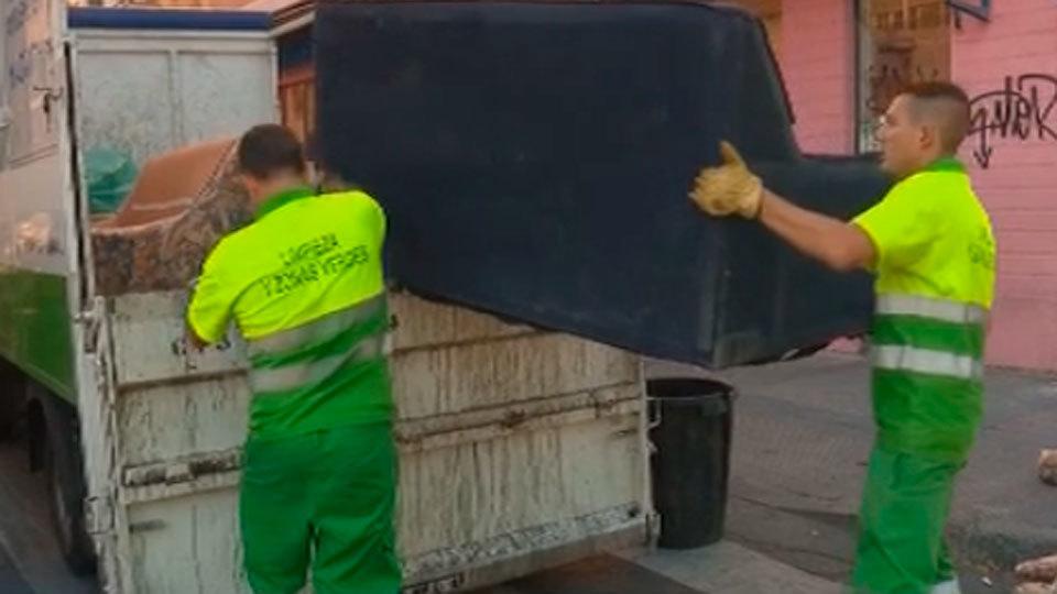 Plan choque de limpieza en Madrid