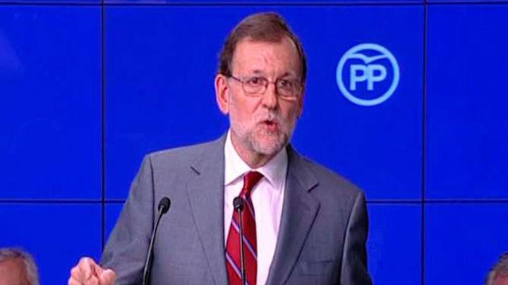 Rajoy dice estar dispuesto a gobernar en solitario con 137 diputados