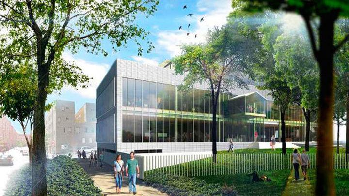 Mayer presenta el proyecto de la nueva biblioteca para el barrio de San Fermín