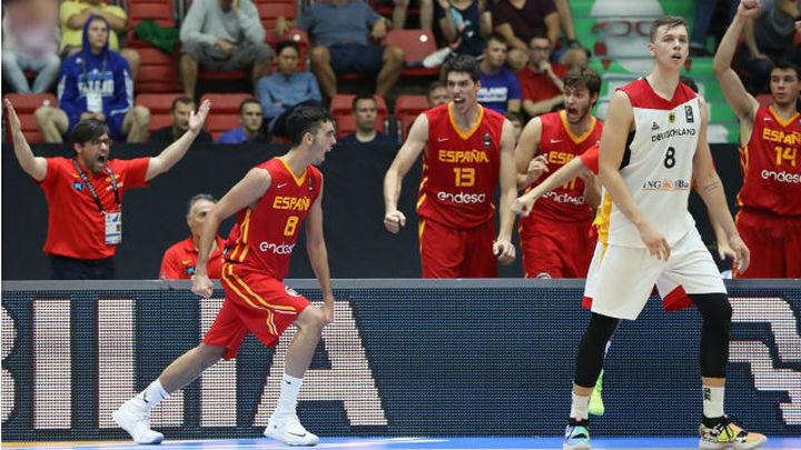 61-52. España, a la final del Europeo Sub'20 al ganar a Alemania