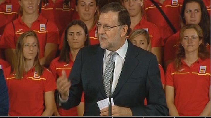 Rajoy apela a no rendirse nunca y ensalza la idea de España como nación