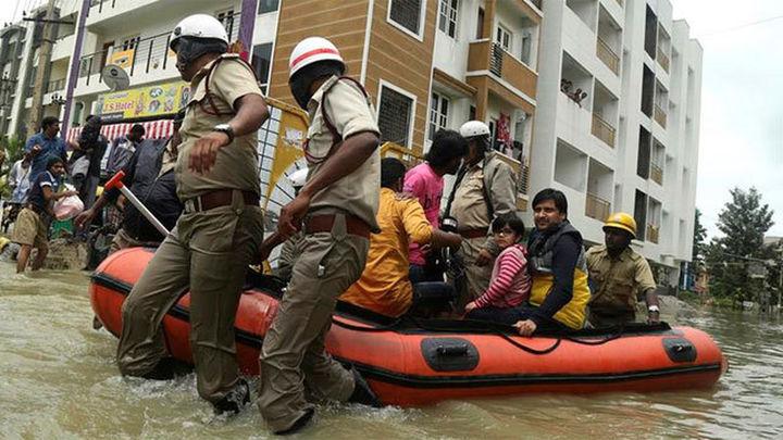Al menos 4 millones de afectados por inundaciones en el norte de la India