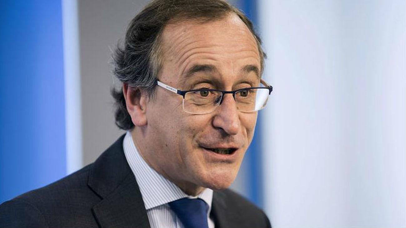 El presidente del PP vasco y ministro de Sanidad en funciones, Alfonso Alonso
