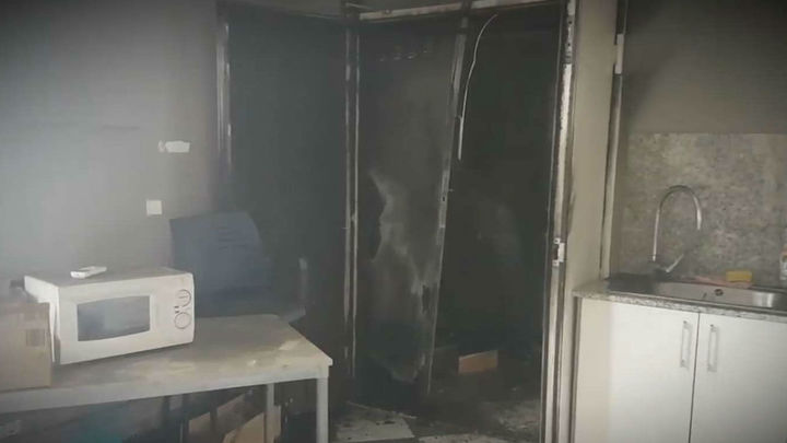 Arde el polideportivo municipal del barrio de La Concepción de Madrid