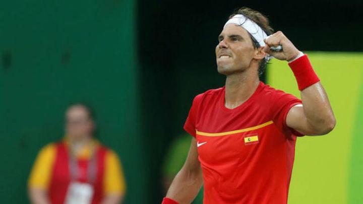 Nadal y Garbiñe cumplen y solventan sin problemas sus primeros partidos