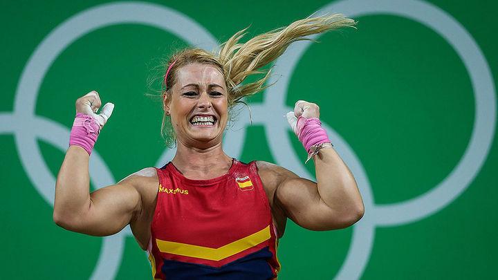 Lidia Valentín, bronce, saborea por fin el podio olímpico