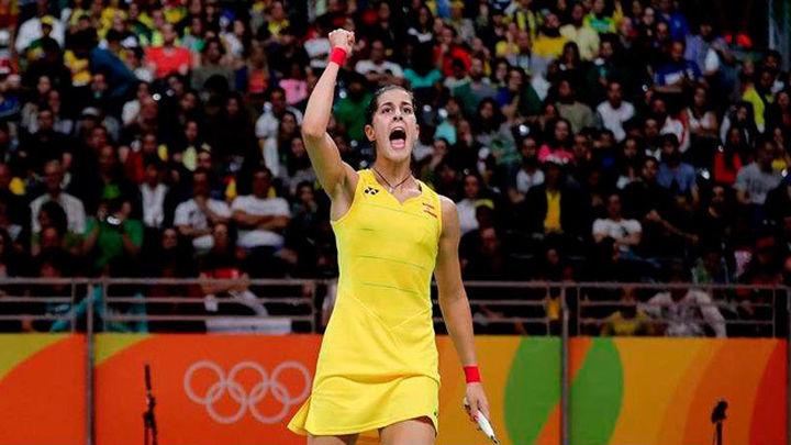 """Carolina Marín: """"Estoy contenta por estar en los cuartos de final"""""""