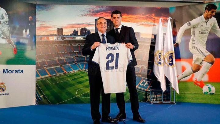 """Morata se presenta entre lágrimas: """"Voy a dejarme la vida en el Bernabéu"""""""