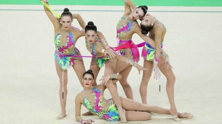 Plata para el conjunto español de gimnasia rítmica