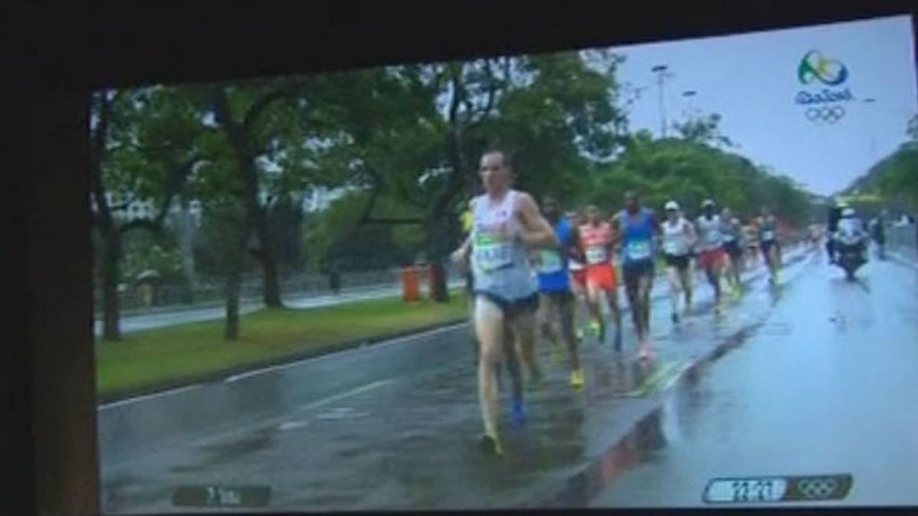 Jesús España dice que la humedad le hizo mella en el maratón