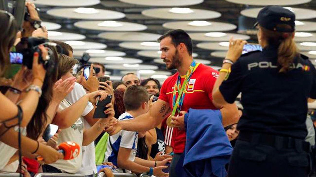 El equipo olímpico español llega a Madrid