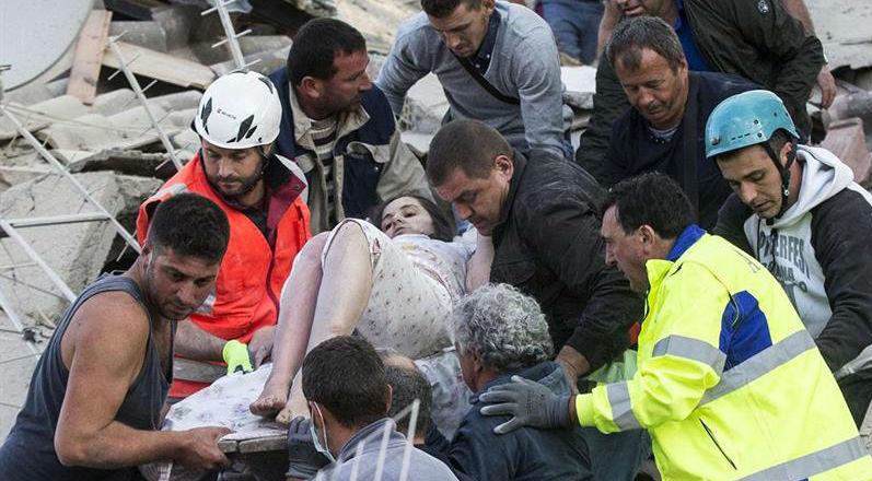 Rescate del terremoto