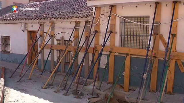 Viviendas apuntaladas en Ciempozuelos