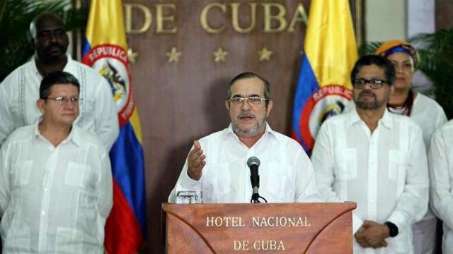 """El líder de las FARC, Rodrigo Londoño Echeverri, alias """"Timochenko"""""""