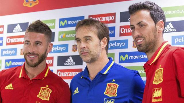 Sergio Ramos, Lopetegui y Busquets
