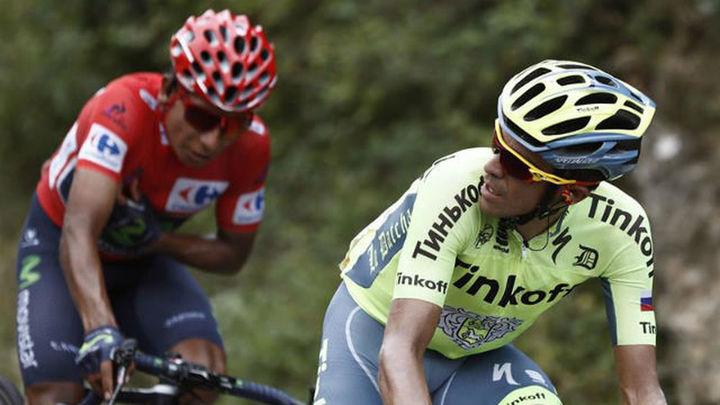 Vuelta: Contador la lía de salida, gana Brambilla y Quintana aleja a Froome