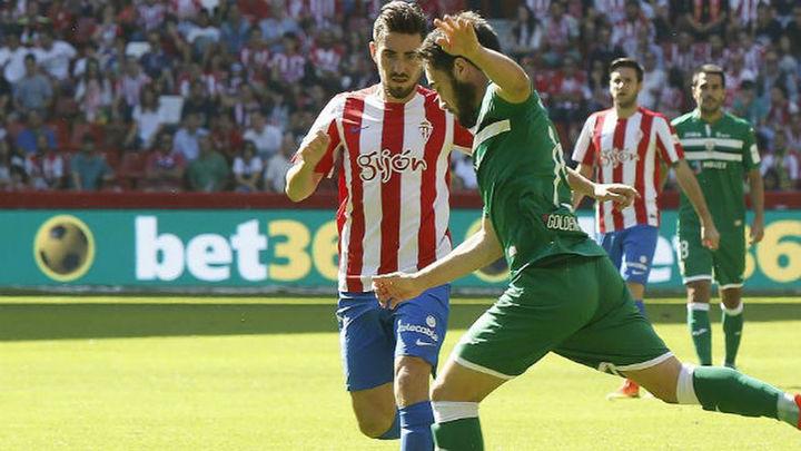 2-1. Un Leganés sin puntería cae ante el Sporting