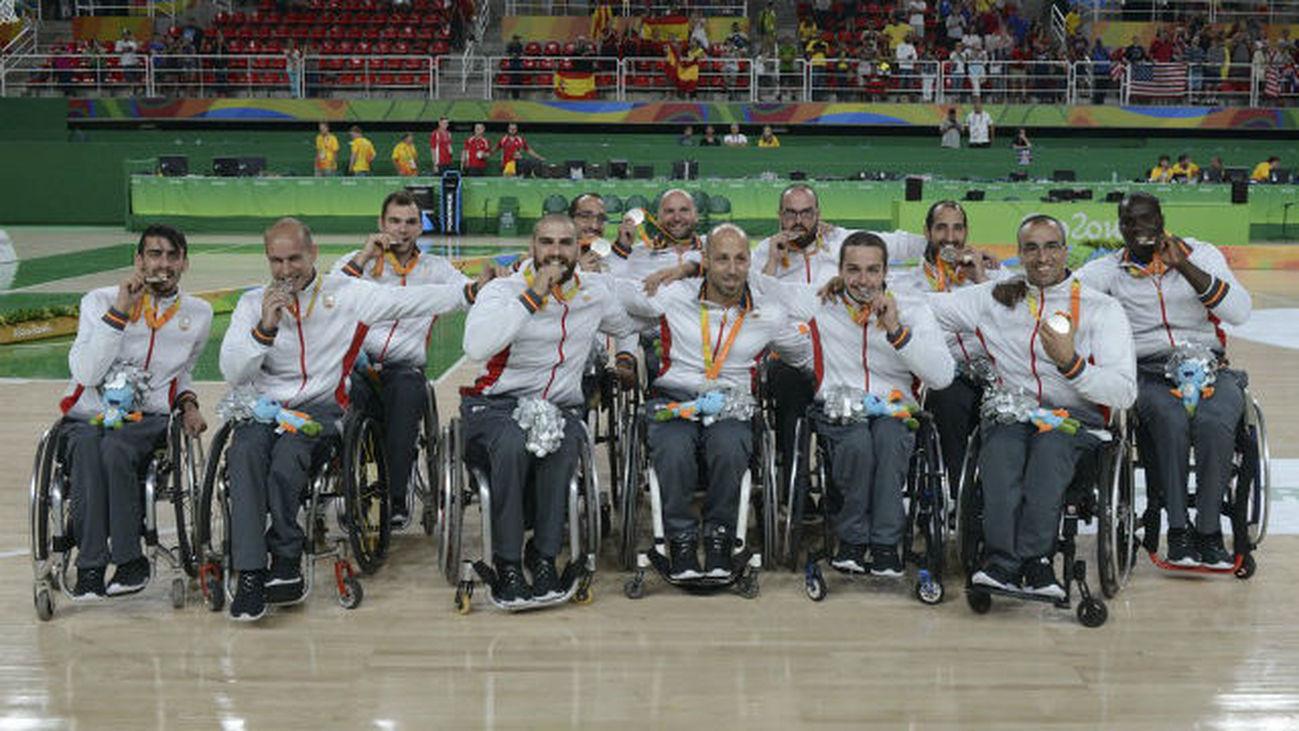 Selección española en silla de ruedas