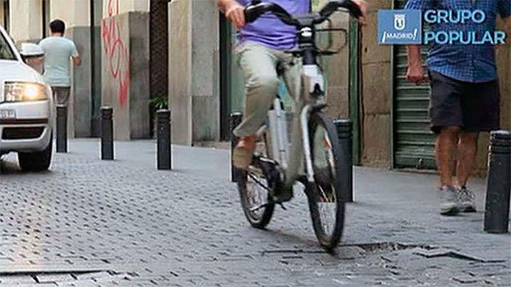 El PP critica en un vídeo la dificultades de moverse en bicicleta