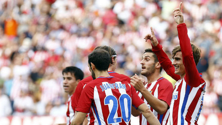 1-0. Griezmann y Gameiro derriban un muro