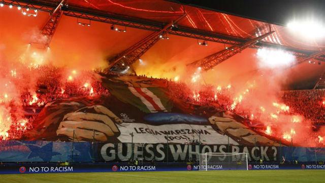 Afición del Legia Varsovia