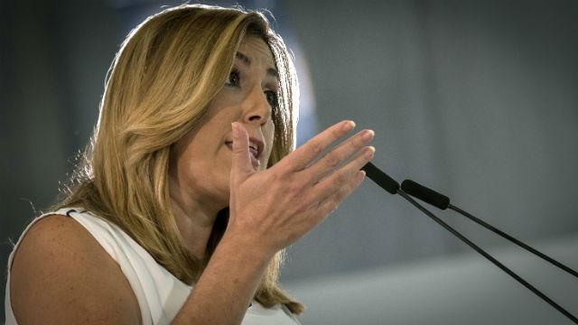 La secretaria general del PSOE-A y presidenta andaluza, Susana Díaz