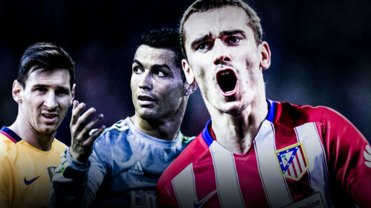 Messi, Griezmann y Cristiano Ronaldo