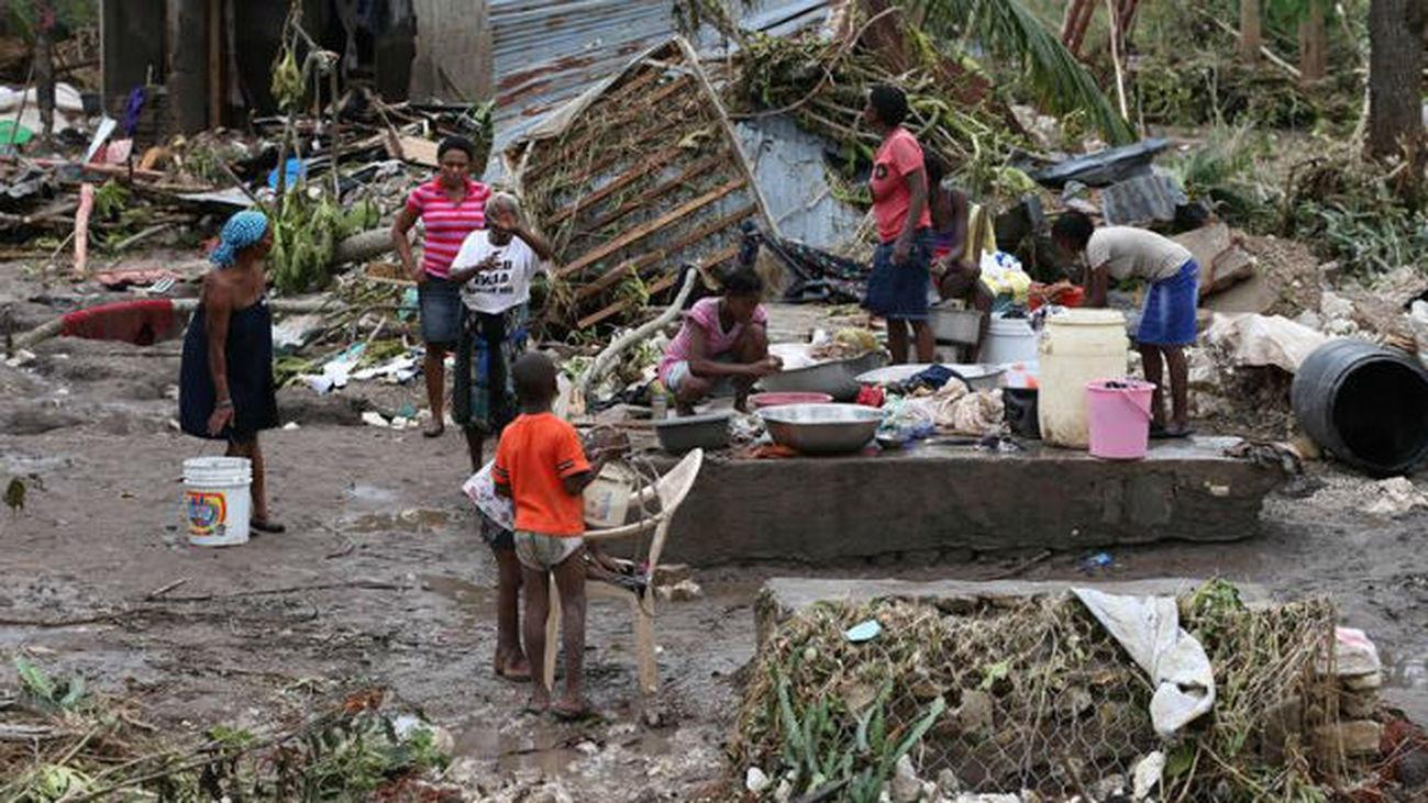Paso del huracán por Haití