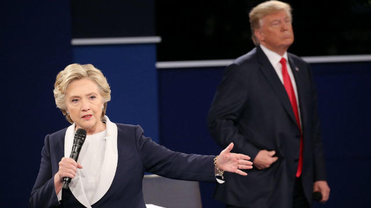 Trump salva los muebles, aunque varios medios dan a Clinton ganadora del debate