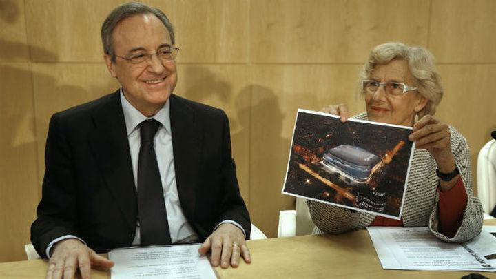 """Carmena dice que la obra del Bernabéu es la """"consumación de la modernización"""""""
