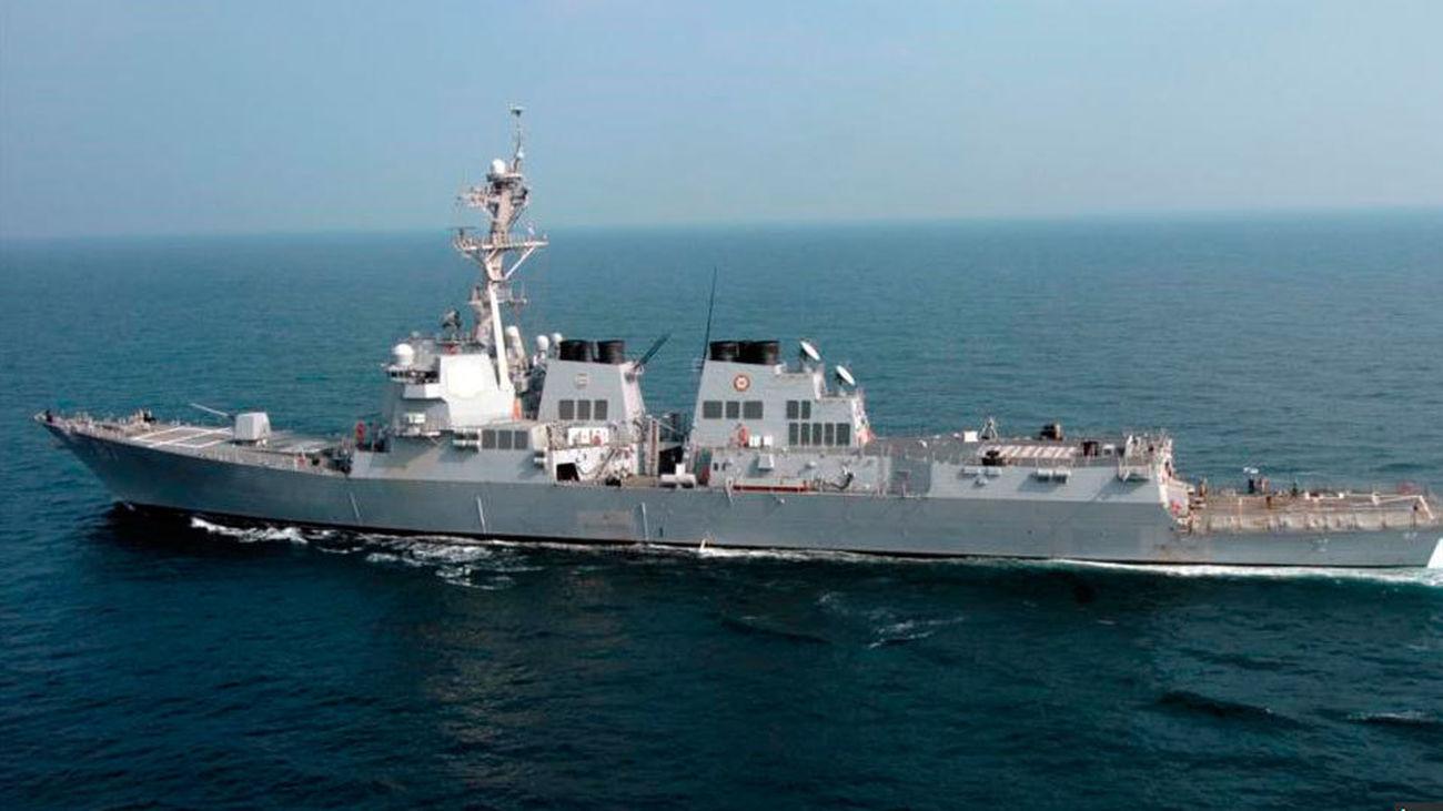 """Destructor estadounidense """"USS Mason"""""""