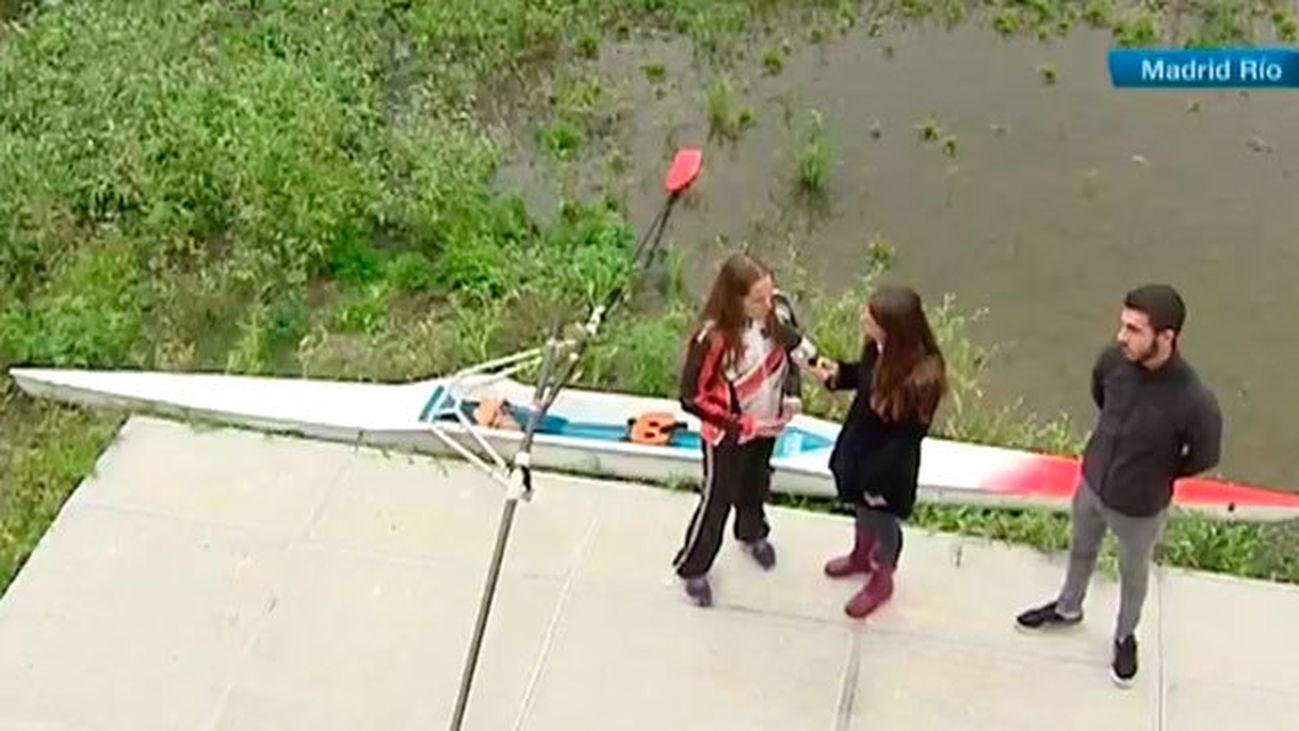 Las escuelas de remo sin poder entrenar en el río