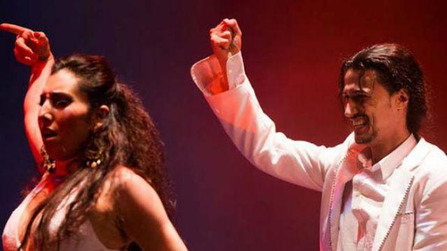 Antonio de Verónica y Saray Cortés, en el espectáculo de flamenco 'De Norte a Sur'