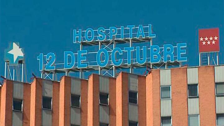 El techo del pasillo del Hospital 12 de Octubre derrumbado estará arreglado el lunes