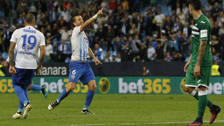 4-0. El Málaga borra del campo al Leganés