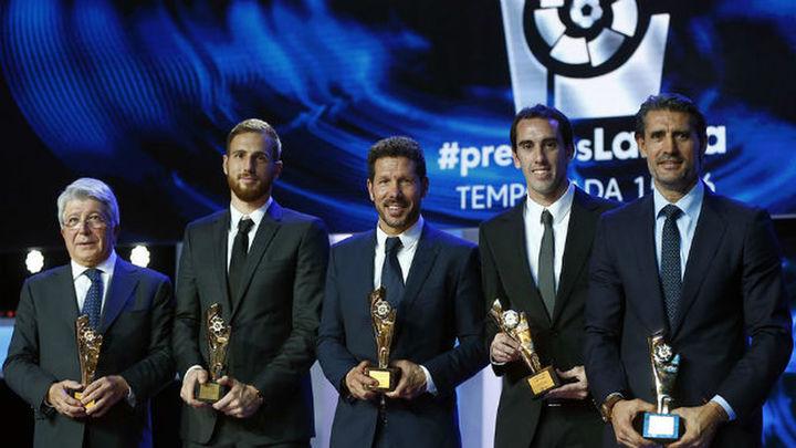 El Atlético, que acabó tercero, acapara los premios de LaLiga