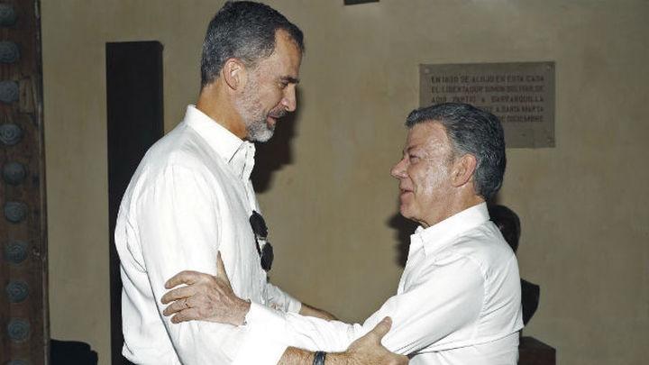 Santos agradece a Felipe VI la ayuda de España y su apoyo al proceso de paz