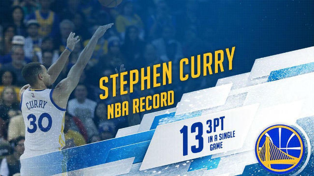 Curry, con 13 triples, imparable ante los Pelicans