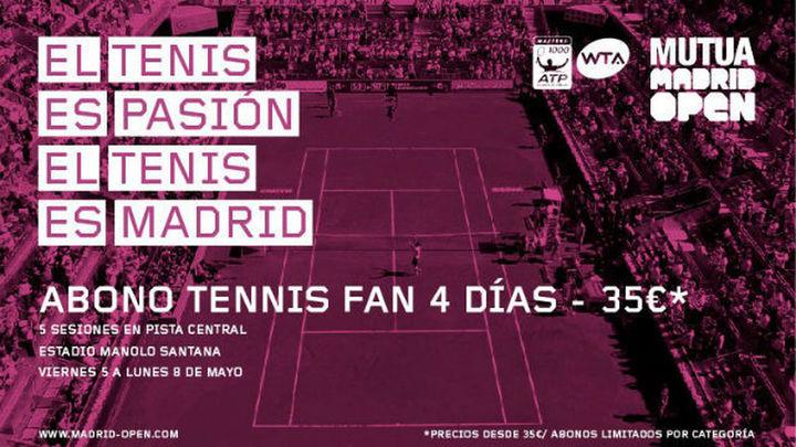 El Mutua Madrid Open 2017 saca a la ventas sus abonos desde 35 euros