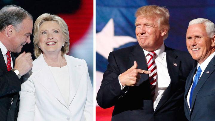EEUU elige sin sobresaltos, pero con filas, entre Clinton y Trump