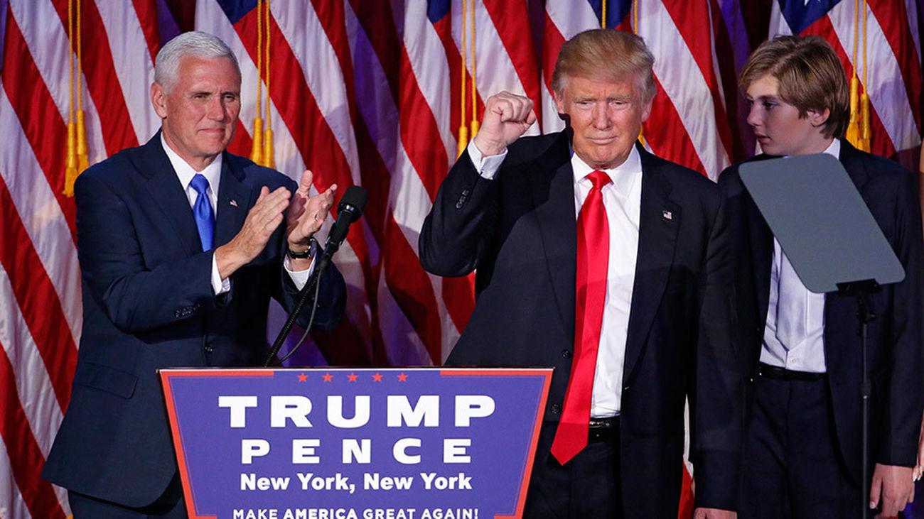 Donald Trump en su discurso ya como presidente de Estados Unidos