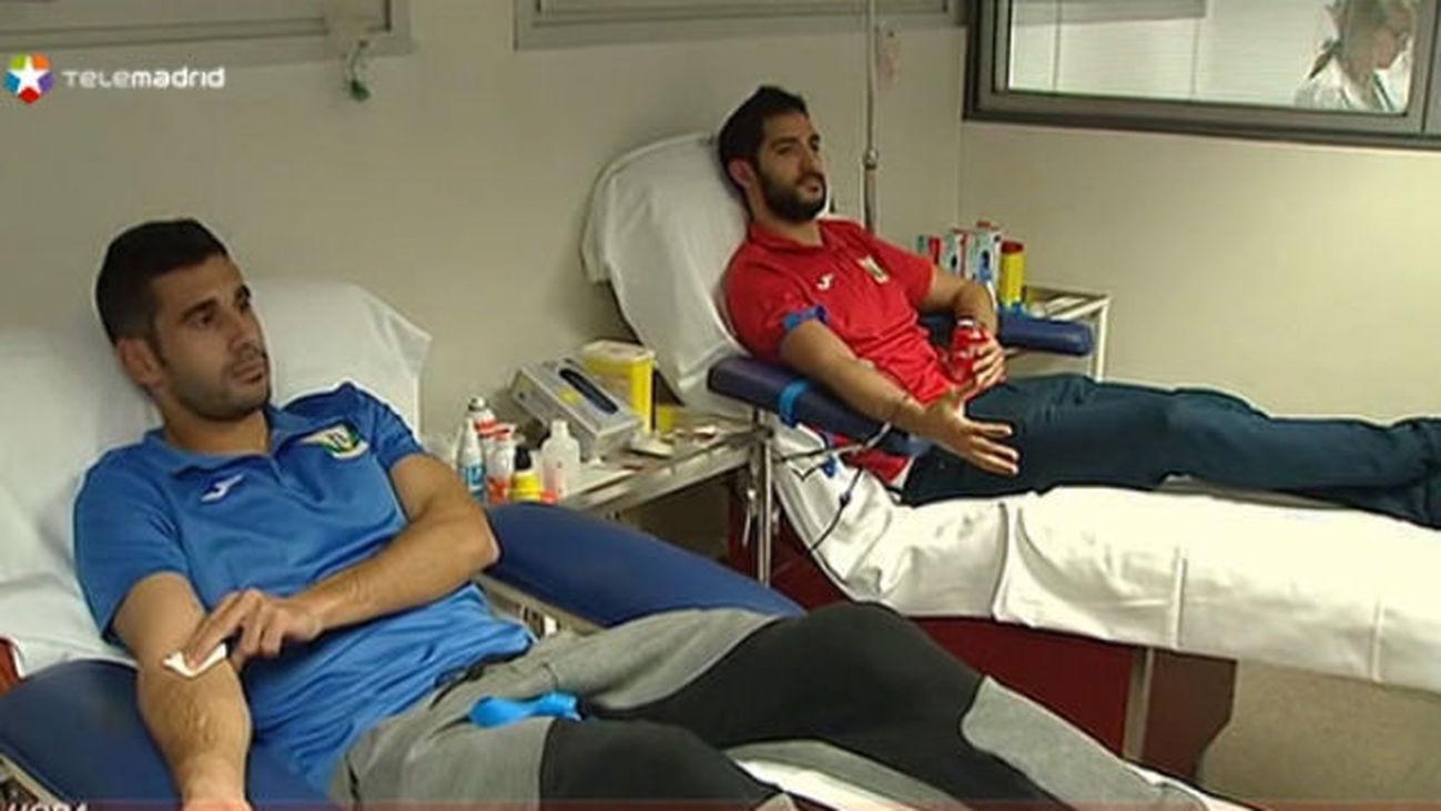 Los jugadores del CD Leganés donan sangre