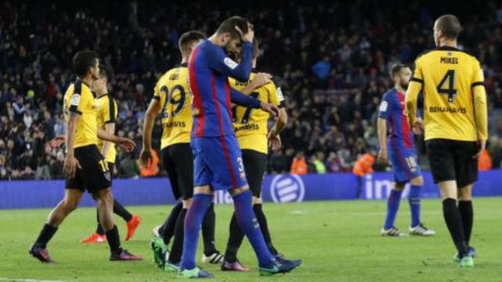 0-0. El Barça, sin Messi, se estrella ante el Málaga