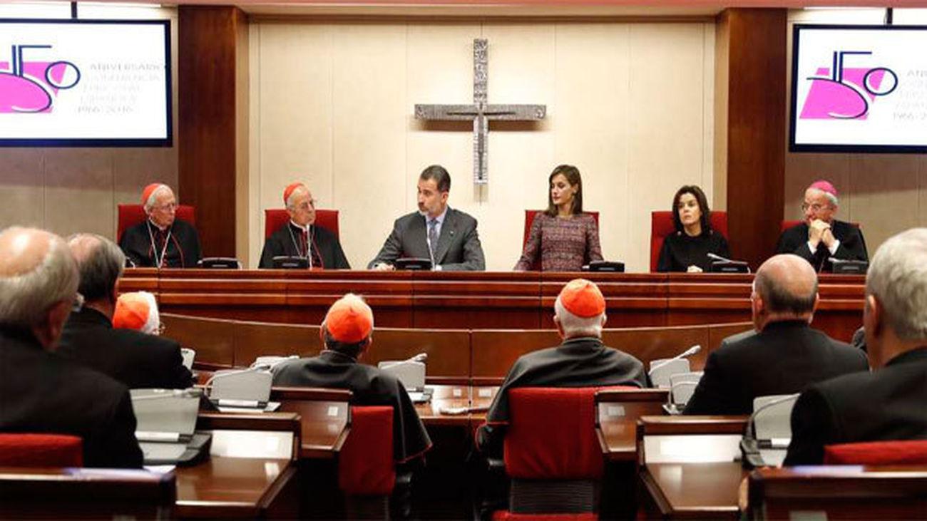 """El Rey reconoce el """"gran impacto"""" de la labor asistencial de la Iglesia"""