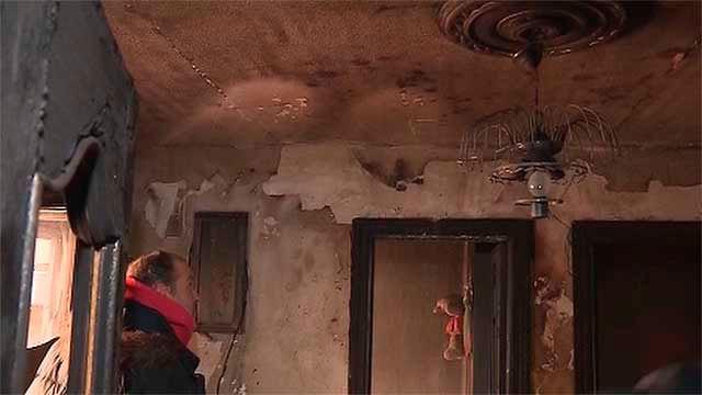 Interior del piso incendiado